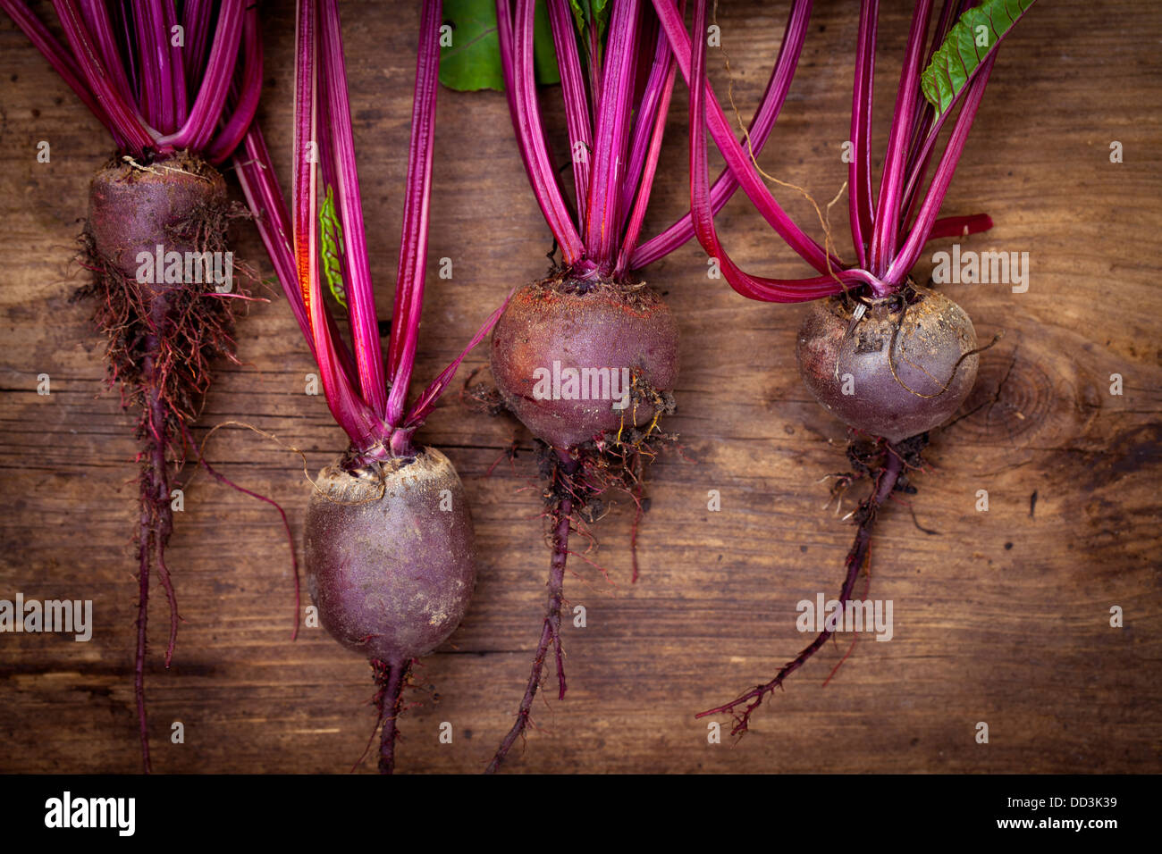 Beetroot on the wooden board Stock Photo