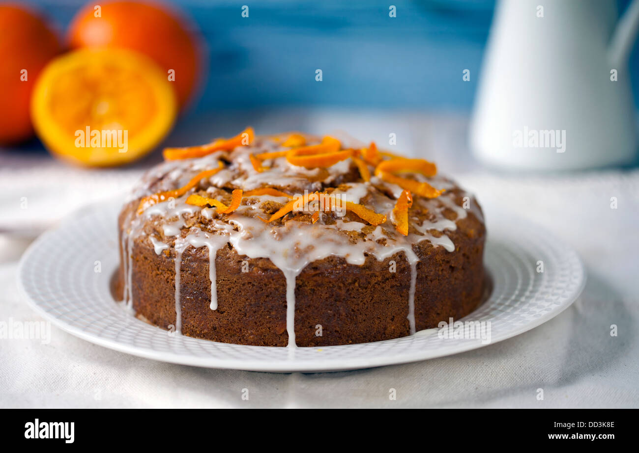 Carrot and orange cake - Stock Image