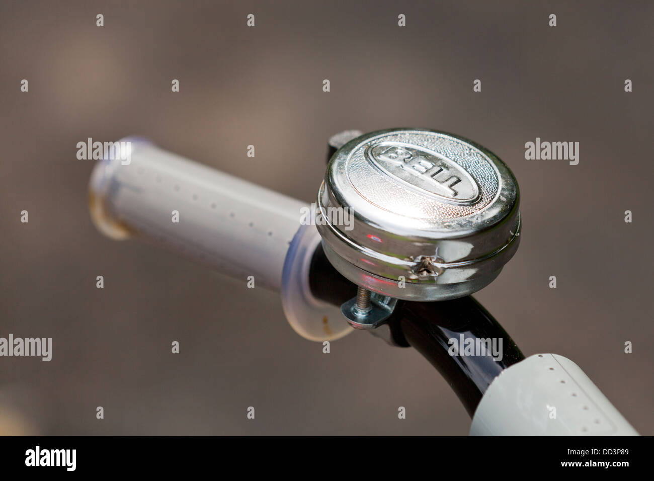 Child's bicycle bell closeup detail - Stock Image