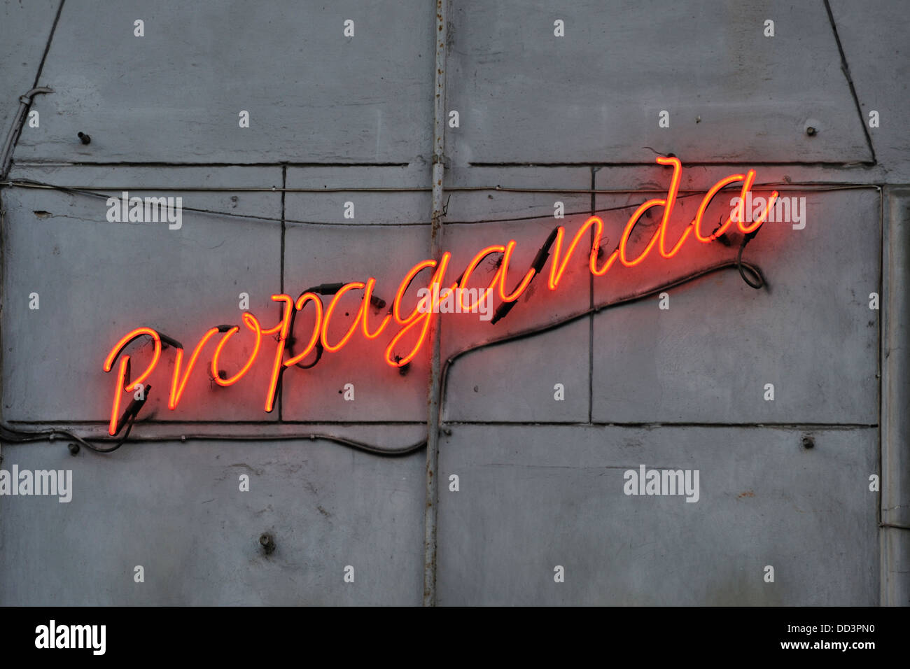 Soviet-style Propaganda bar, Krakow, Poland - Stock Image