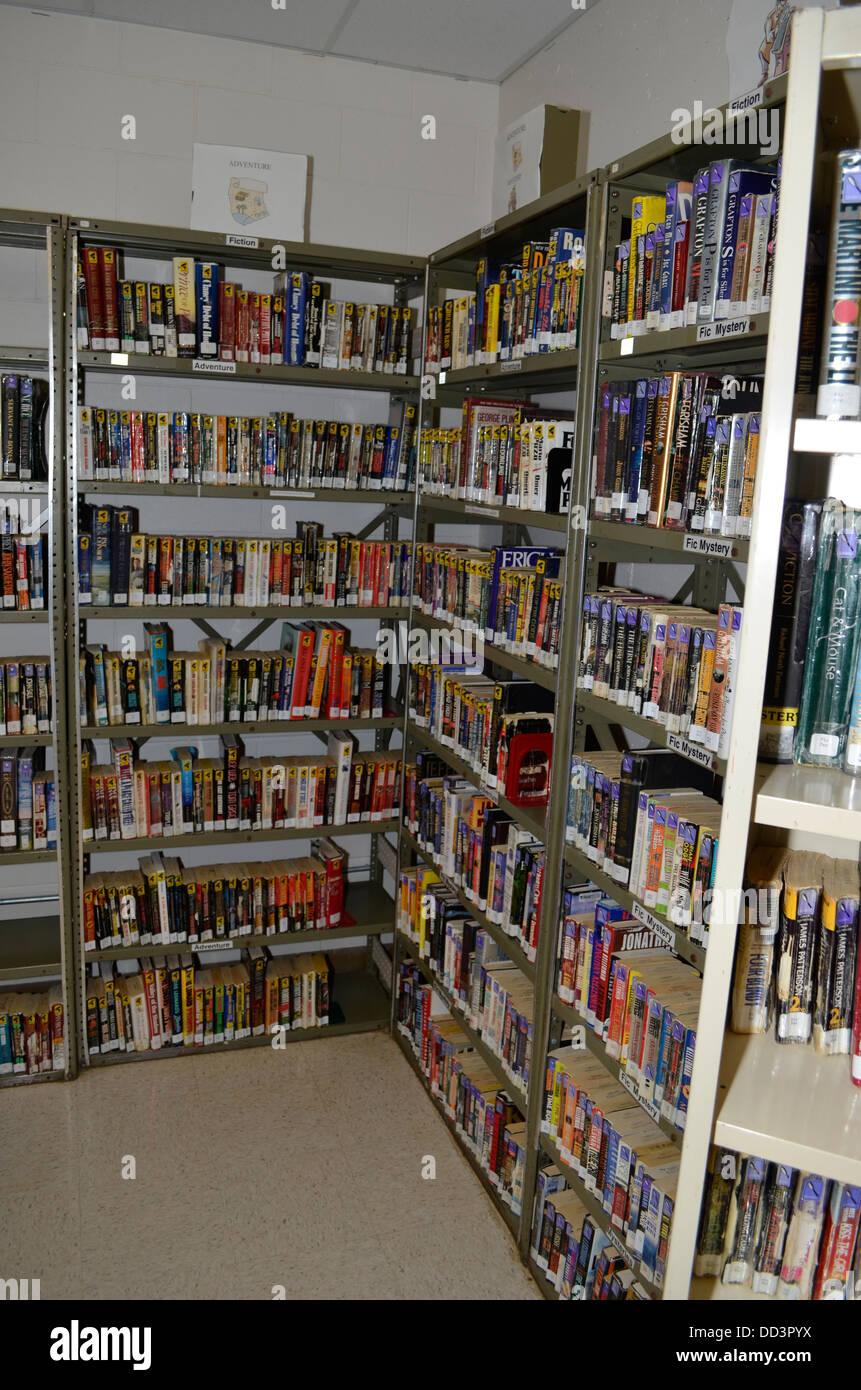 Library. Diagnostic & Evaluation Center, Lincoln, Nebraska. Prison. - Stock Image