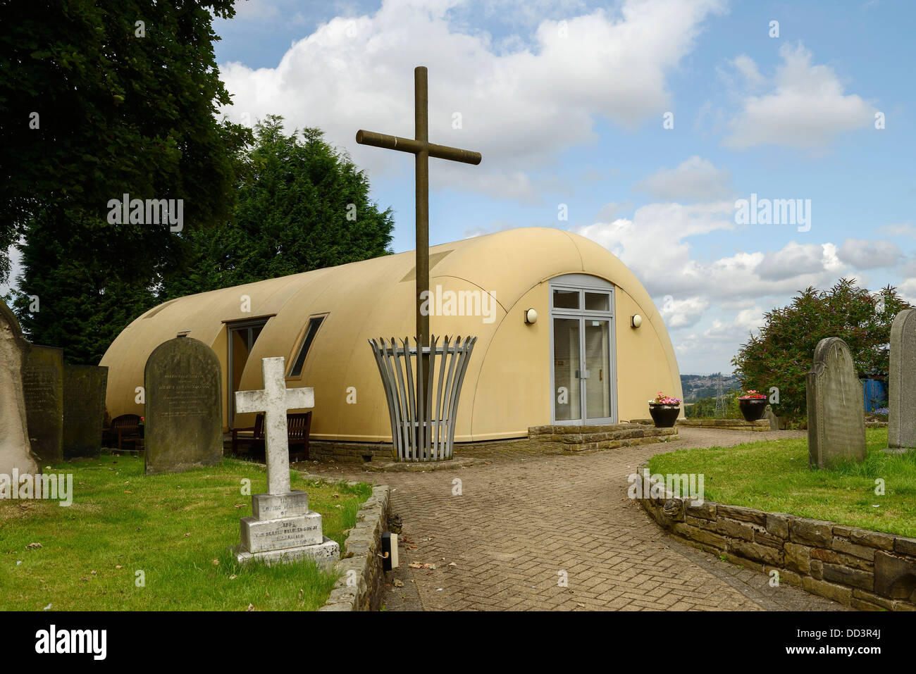 The modern Parish Church of St James the Apostle in Temple Normanton Derbyshire UK - Stock Image