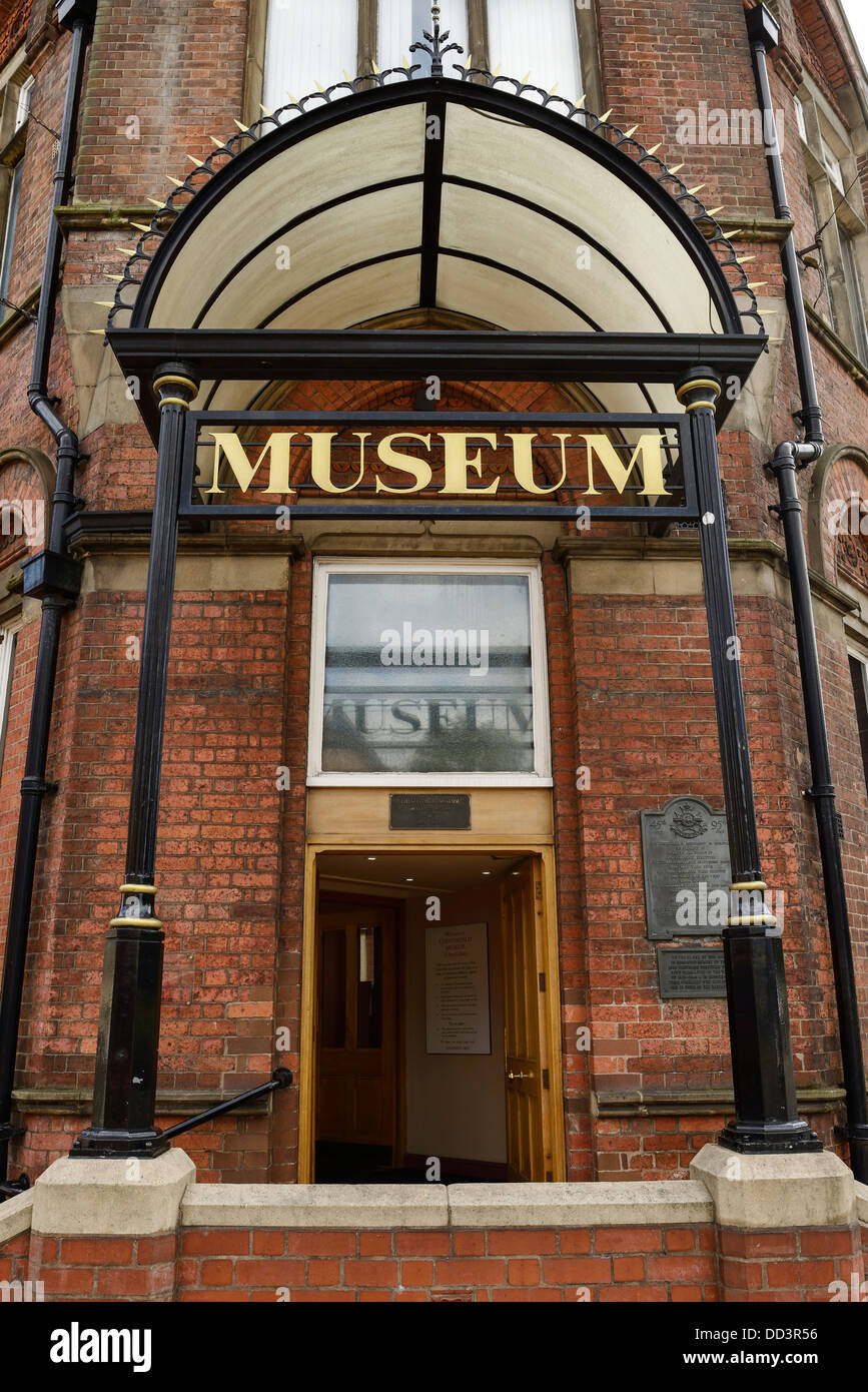 Chesterfield Museum and Art Gallery main entrance UK - Stock Image