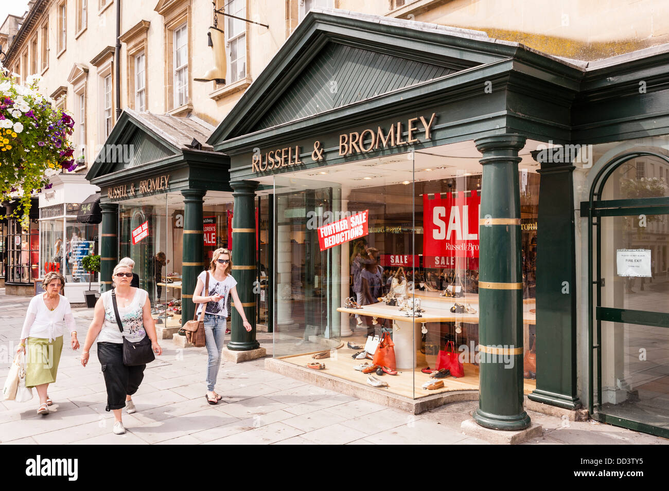 The Russell & Bromley shoe shop store in Bath , Somerset , England , Britain , Uk - Stock Image