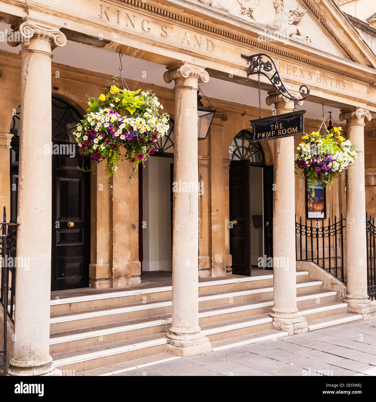 The Pump Room in Bath , Somerset , England , Britain , Uk - Stock Image