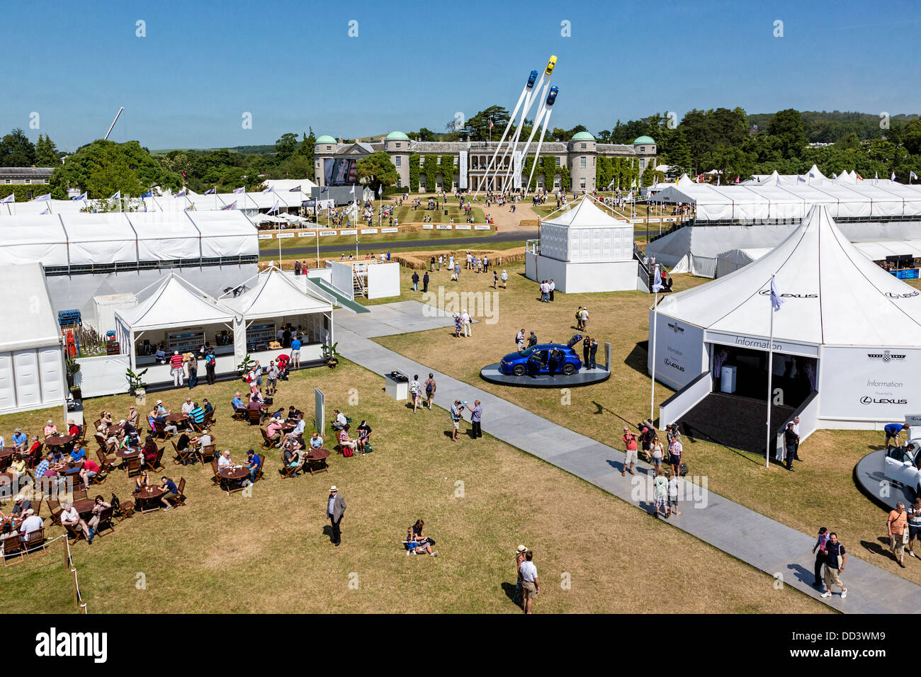 Trade Stands Goodwood Festival Speed : View over the trade stands towards gerry judah