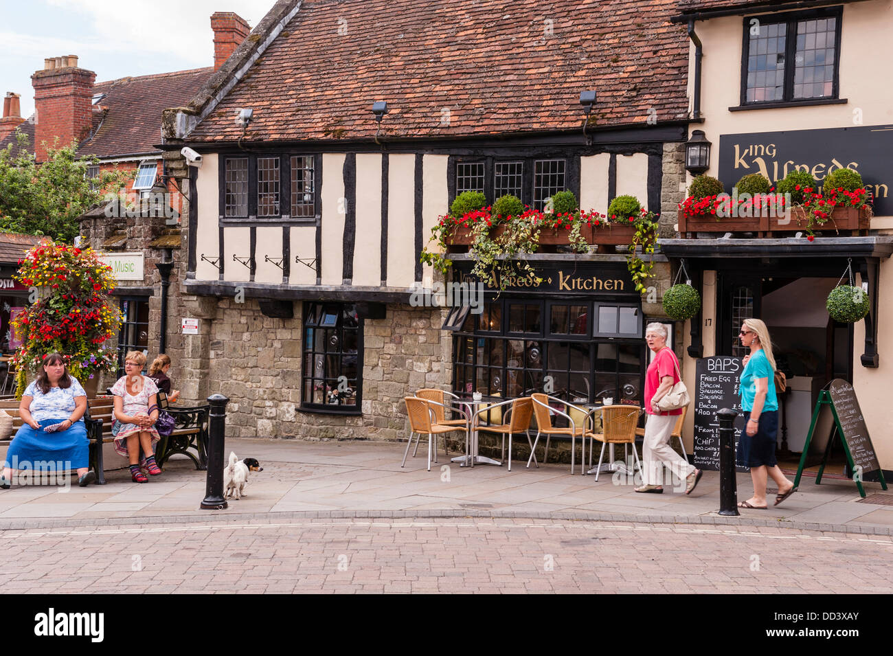 The king Alfreds kitchen in Shaftesbury , Dorset , England , Britain , Uk - Stock Image
