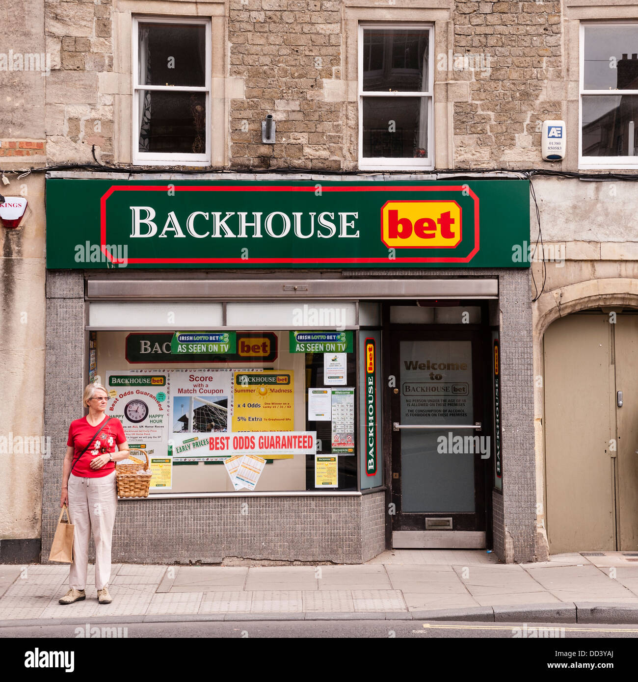 The Backhouse bet bookies in Warminster in Wiltshire , England , Britain , Uk - Stock Image