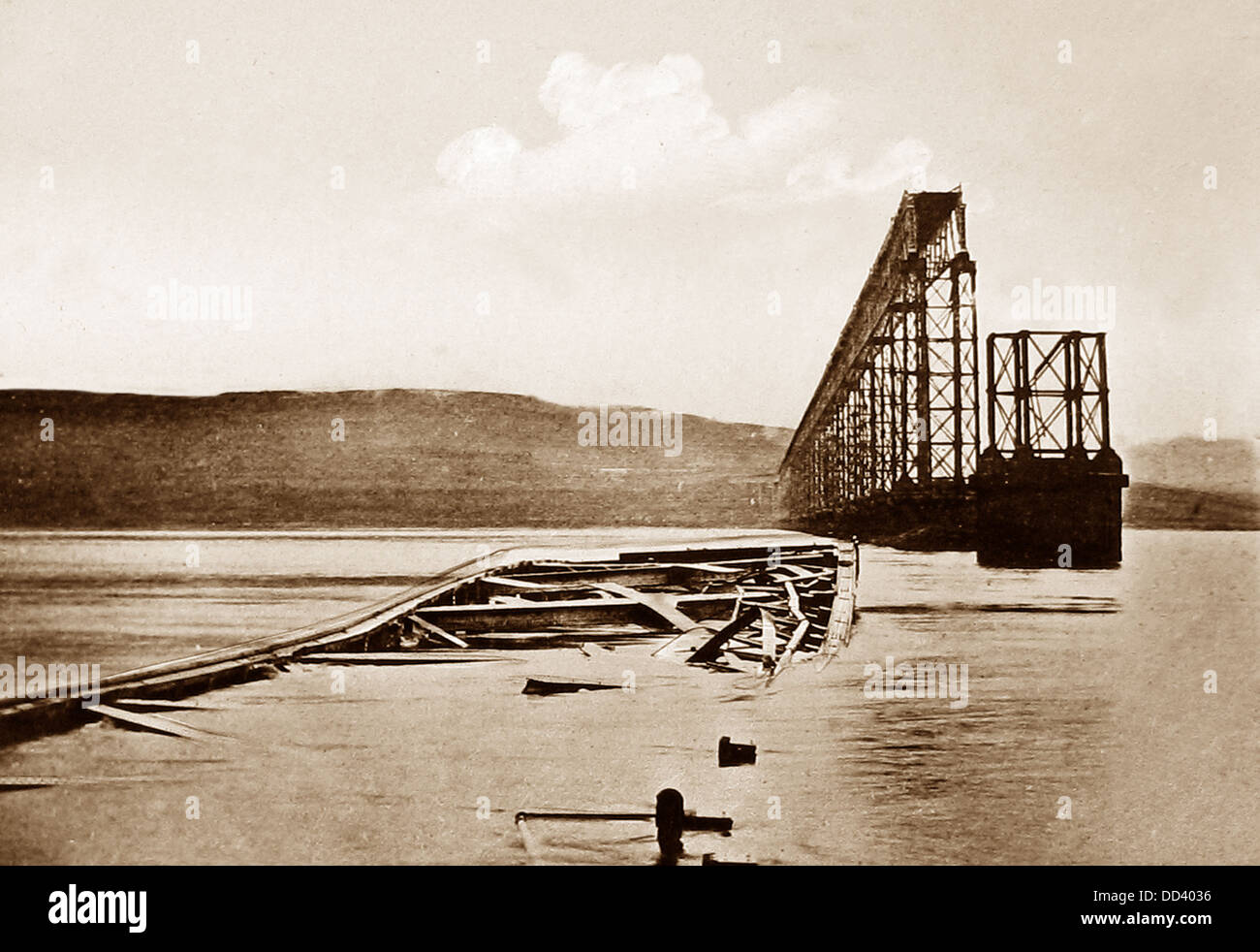 Tay Bridge Disaster Victorian period - Stock Image