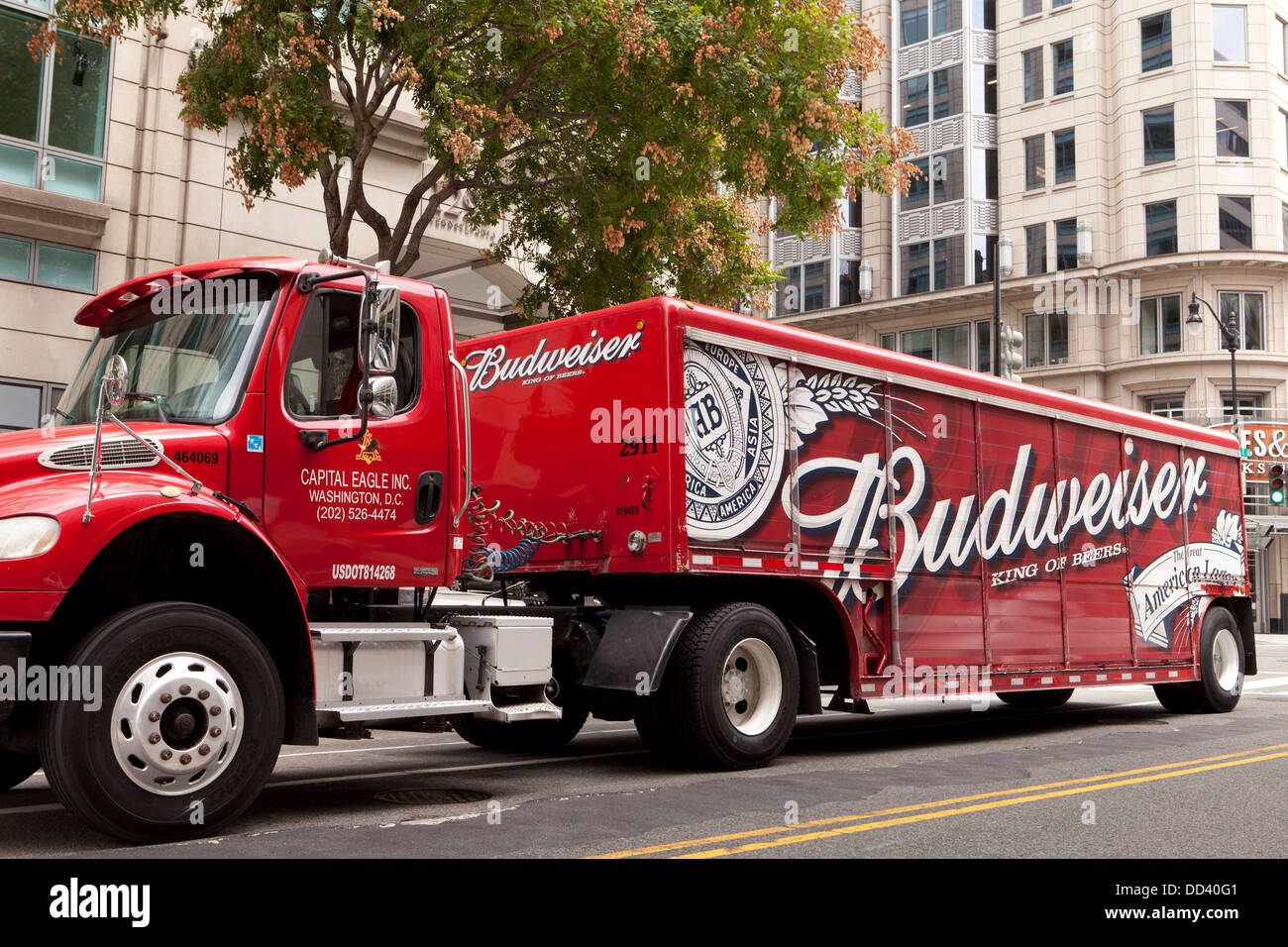 Budweiser Beer Delivery Truck Usa Stock Photo 59709889