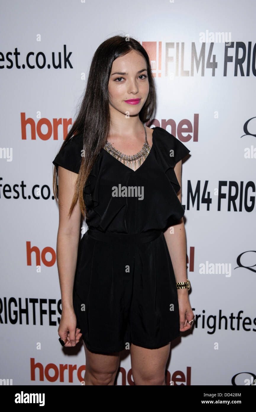 Jemma Dallander attends The 14th Frightfest Film Festival on Sun 25 August 2013 at The Empire, Leicester Square, - Stock Image