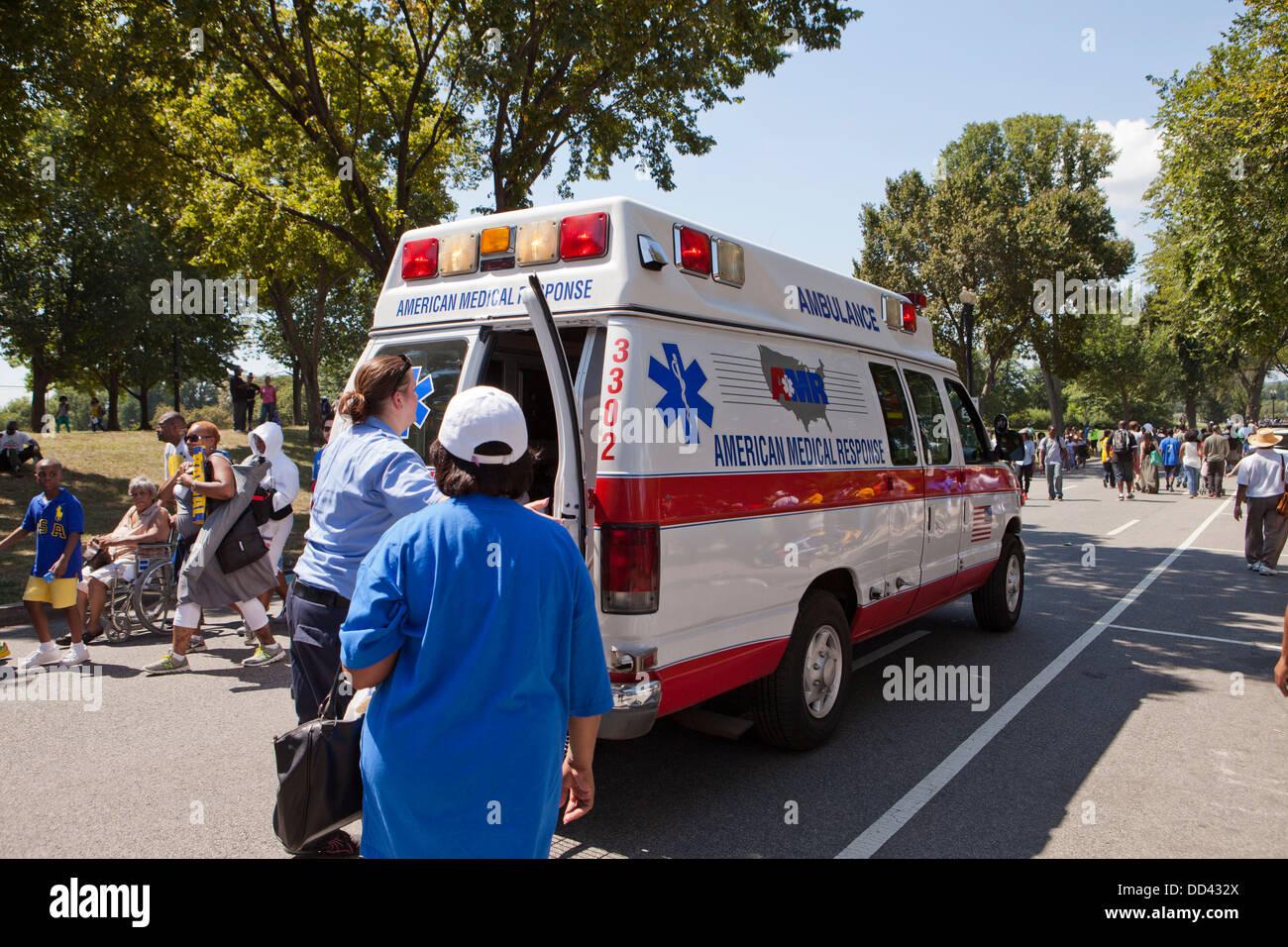 Ambulance - USA - Stock Image