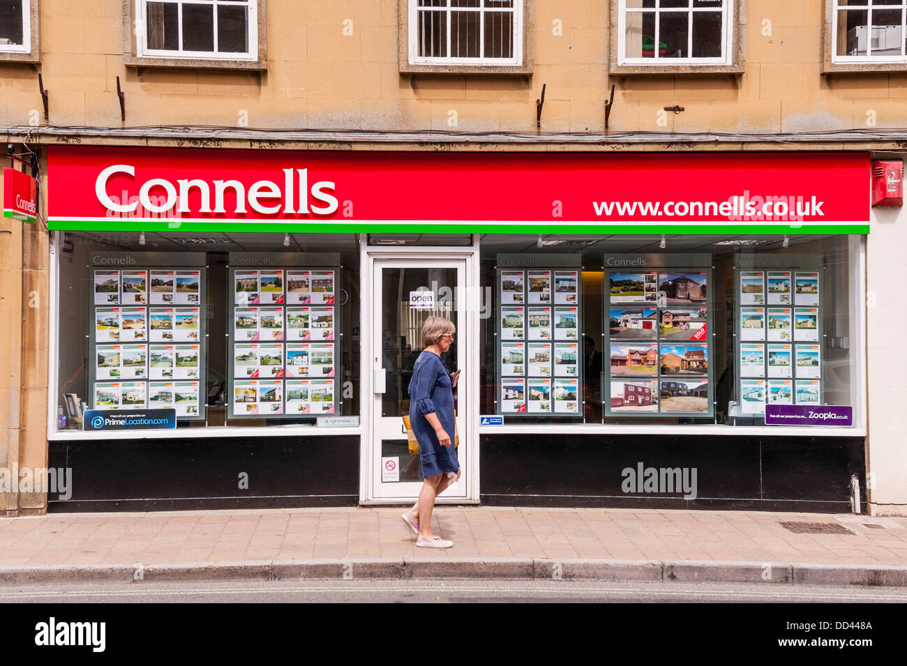 The Connells Estate Agents in Shaftesbury , Dorset , England , Britain , Uk - Stock Image