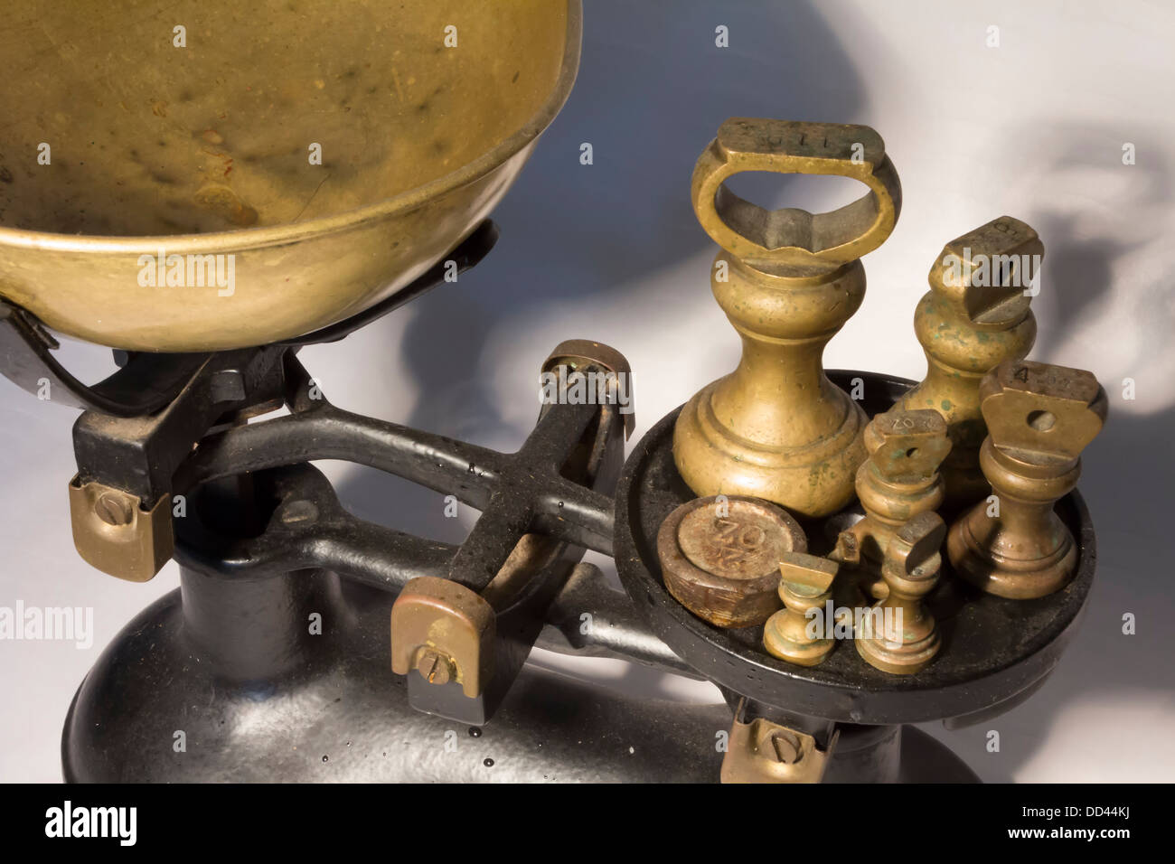 Close-up of kitchen weighing scales Stock Photo