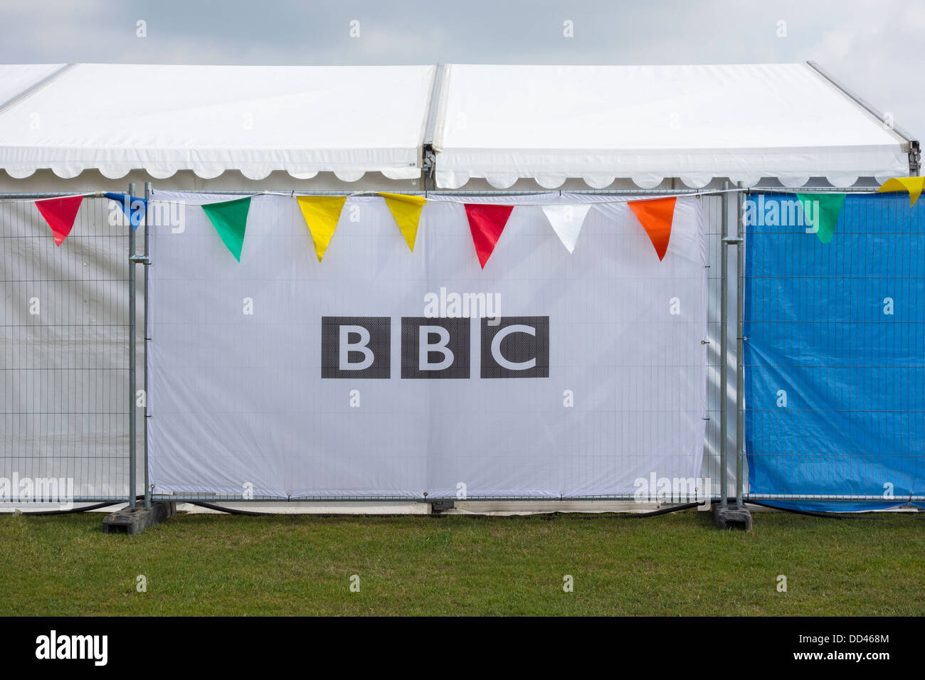 BBC Logo at a summer event - Stock Image