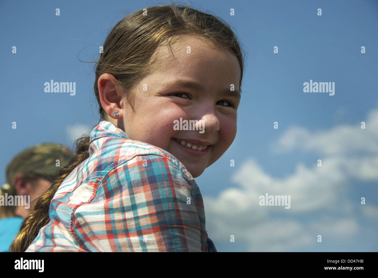 Portrait of young cowgirl from Ada, Oklahoma - Stock Image