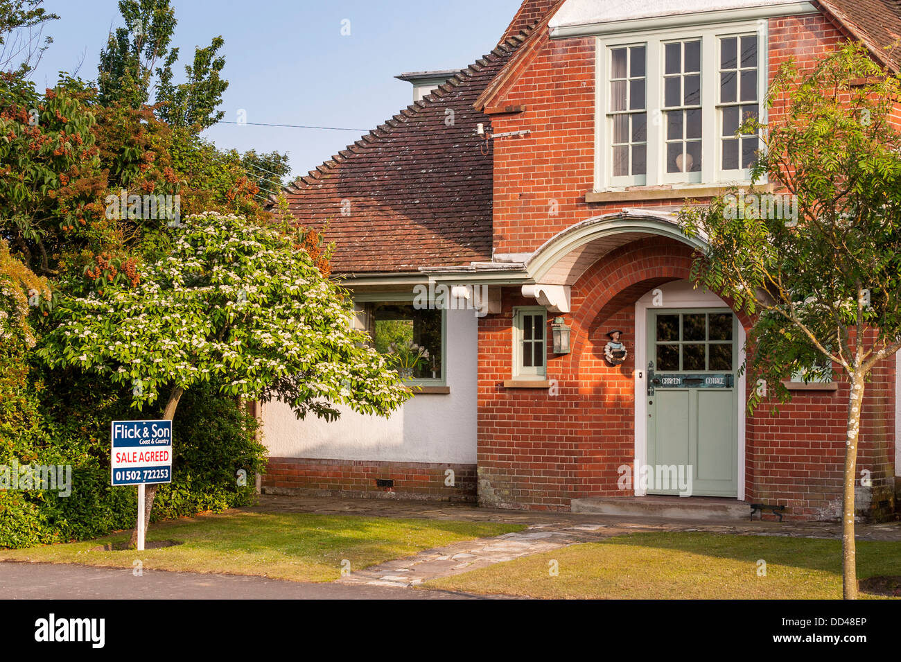 A house for sale in Southwold , Suffolk , England , Britain , UK - Stock Image