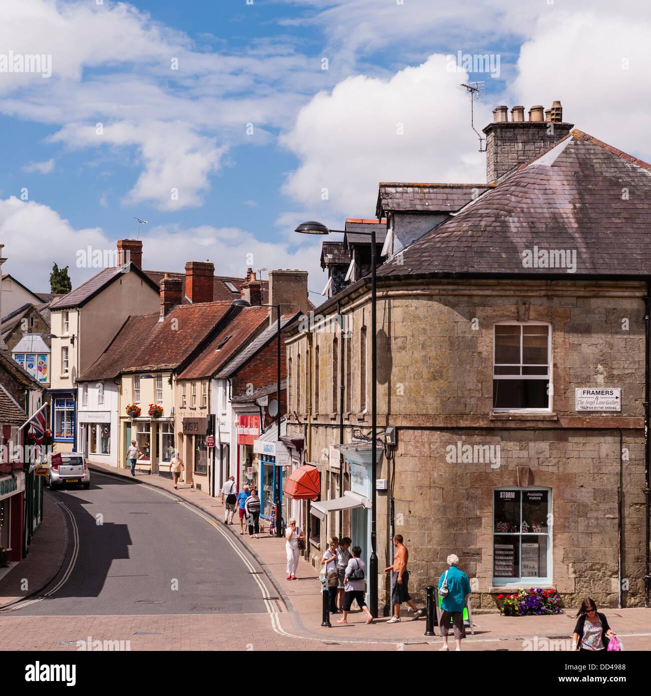 Shaftesbury , Dorset , England , Britain , Uk - Stock Image
