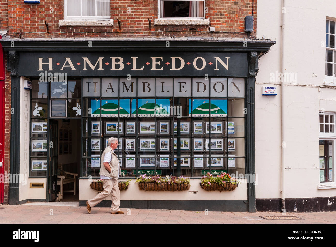 The Hambledon Estate Agents in Shaftesbury , Dorset , England , Britain , Uk - Stock Image