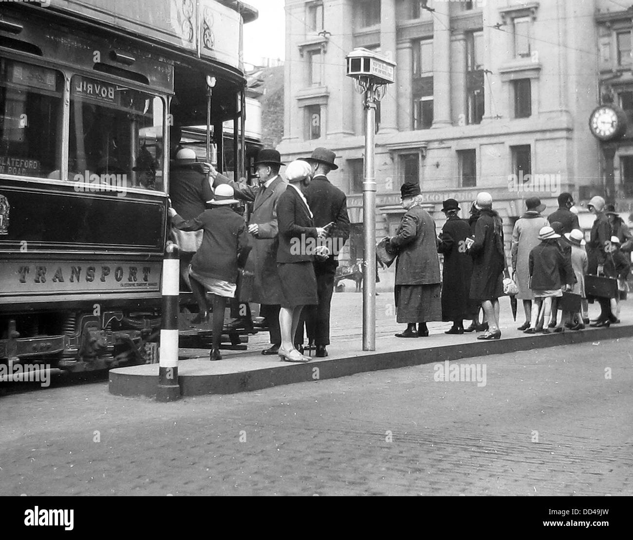 Edinburgh Tram probably 1940s - Stock Image