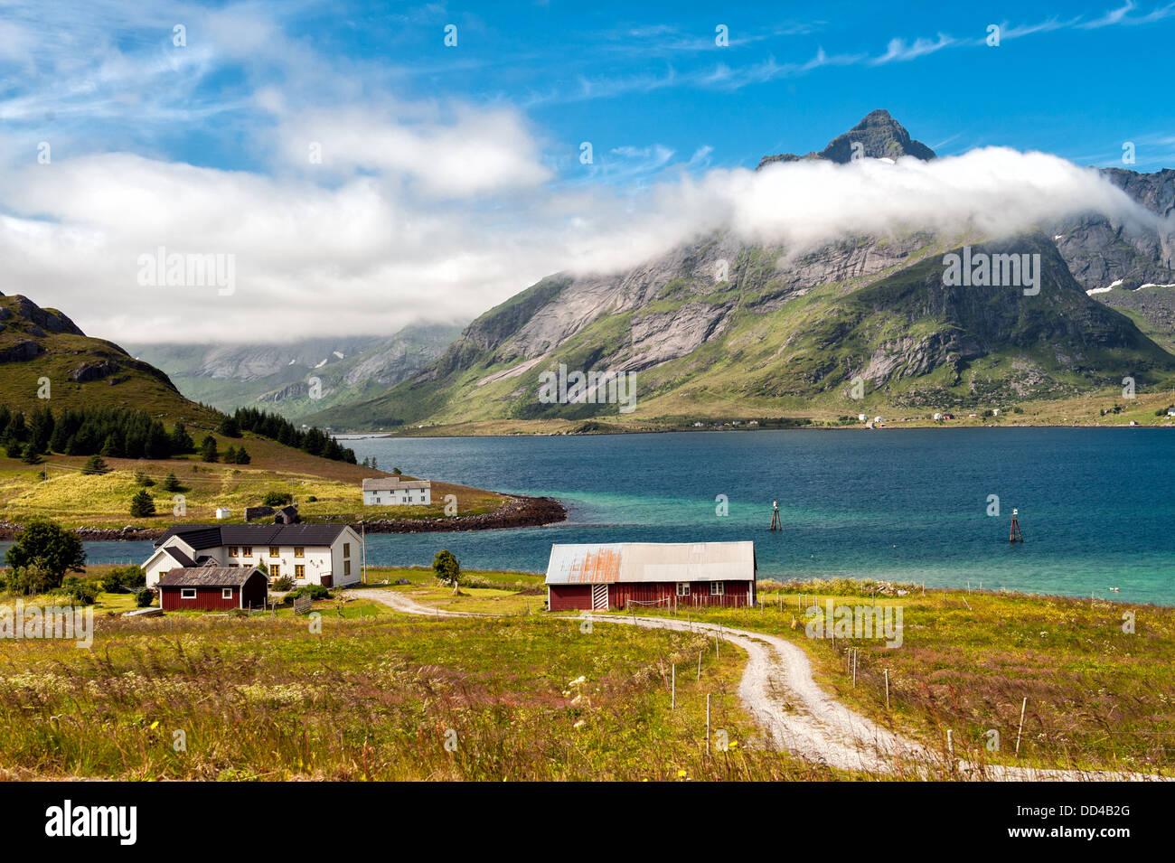 Clouds over Lofoten Islands, Norway - Stock Image