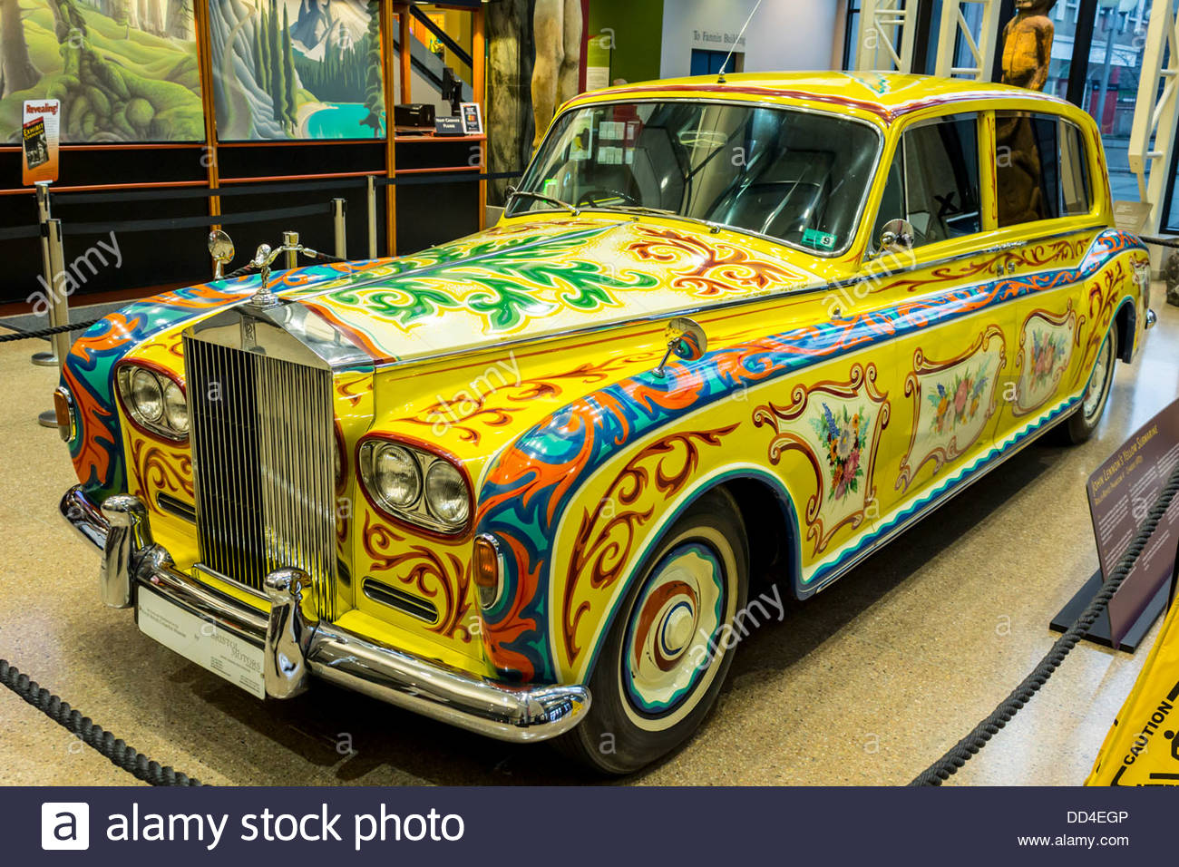 John Lennon S Yellow Submarine Rolls Royce One Sale On Alamy None