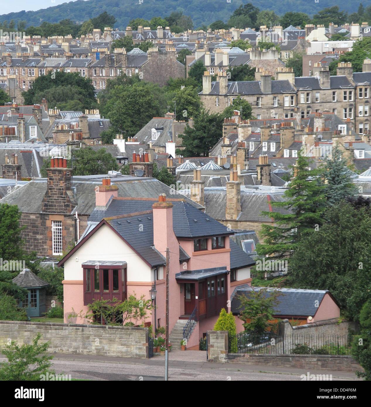 Morningside Suburb of Edinburgh, Scotland, UK - Stock Image