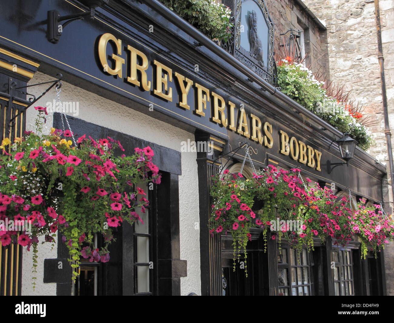 Greyfriars Bobby Bar or Pub, Candlemaker Row, Edinburgh, Scotland, UK Stock Photo