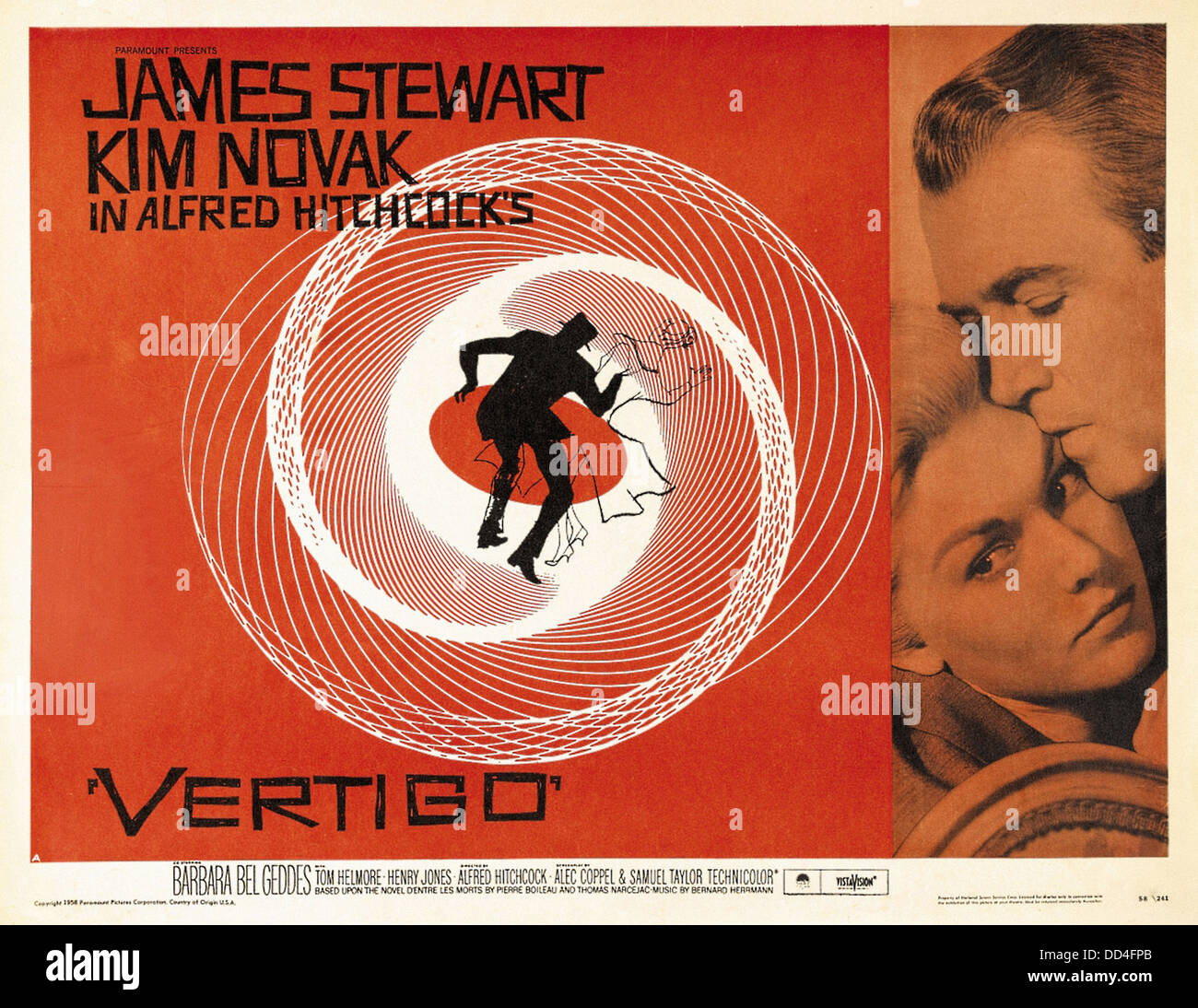24x36 Vertigo Alfred Hitchcock Vintage Movie Poster
