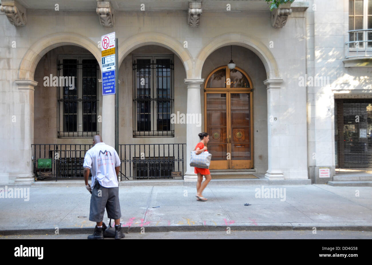 View of the M Knoedler & Co art dealership in New York City, USA, August 2013. When it closed in 2011, it was - Stock Image