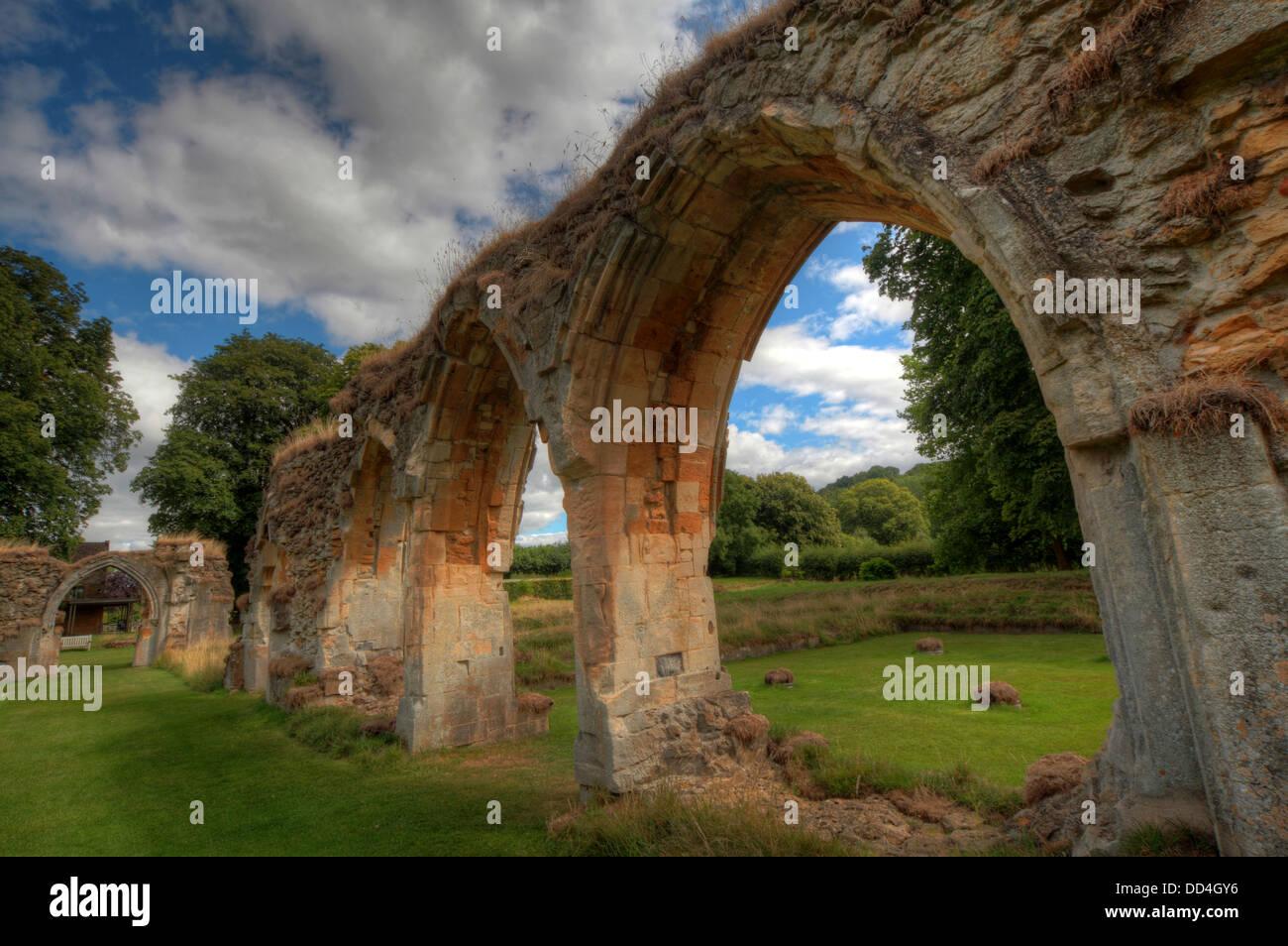 Hailes Cistercian Abbey, Cheltenham, Gloucestershire, England, GL54 5PB - Stock Image
