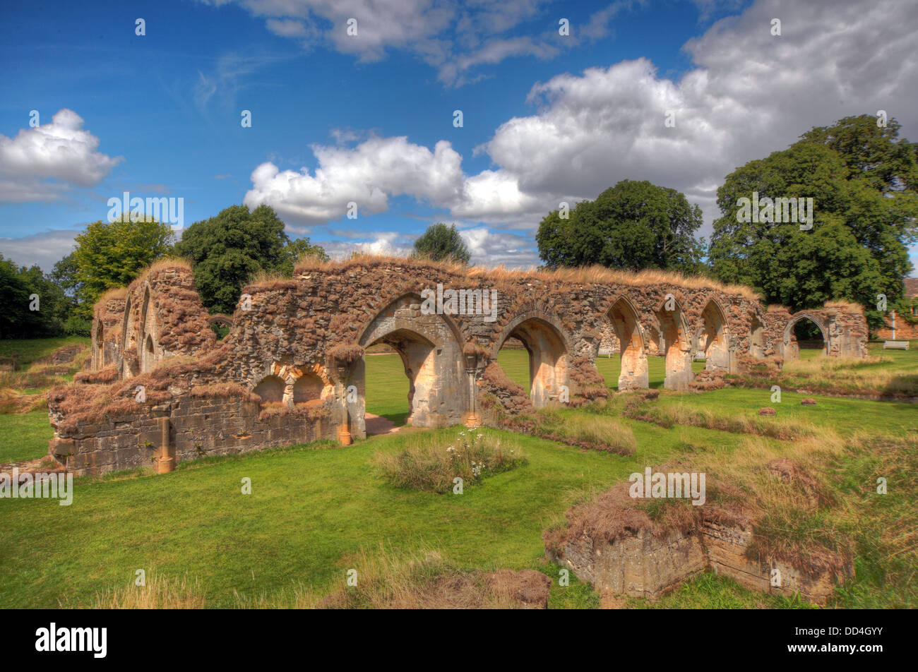 Hailes Cistercian Abbey, Cheltenham, Gloucestershire, England, GL54 5PB Stock Photo