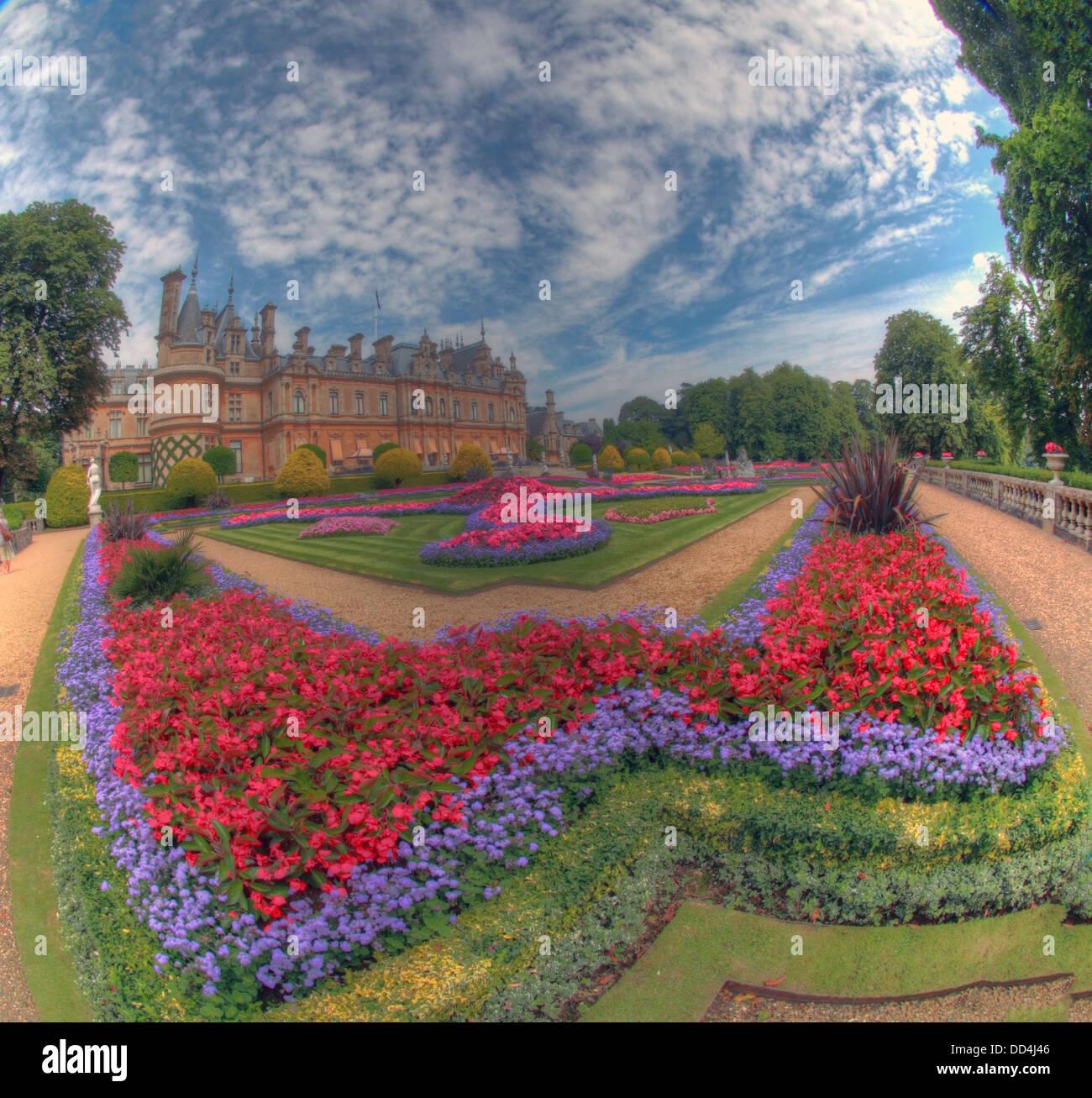Panorama from Waddesdon Manor, Buckinghamshire, England - Stock Image