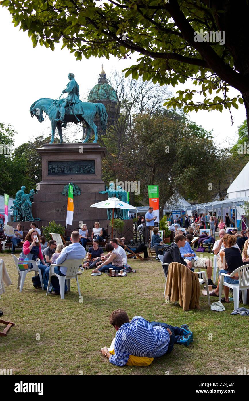 Edinburgh International Book Festival, Charlotte Square, Scotland, UK - Stock Image
