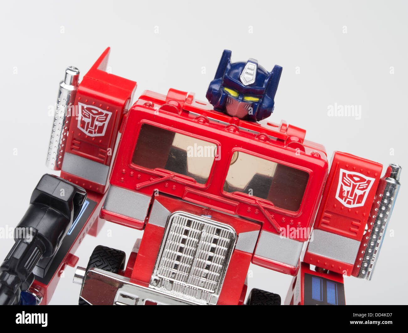 Optimus Prime Transformers Toy by Takara / Takara Tomy / Hasbro First Generation ( 1984 ) Robot action figure Autobot - Stock Image