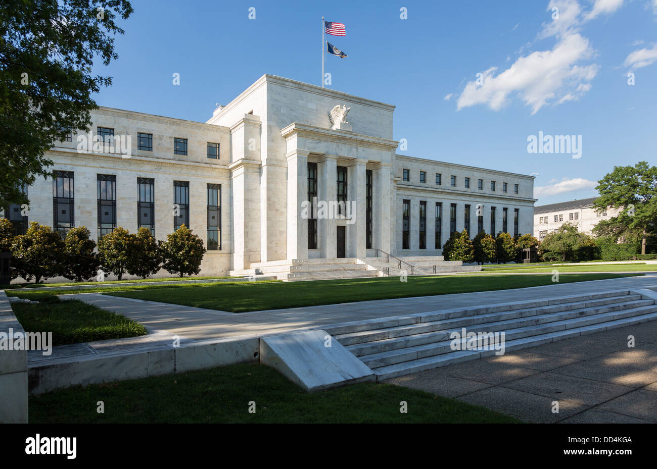 US Federal Reserve Board Building (the Fed), Washington, D.C., USA - Stock Image