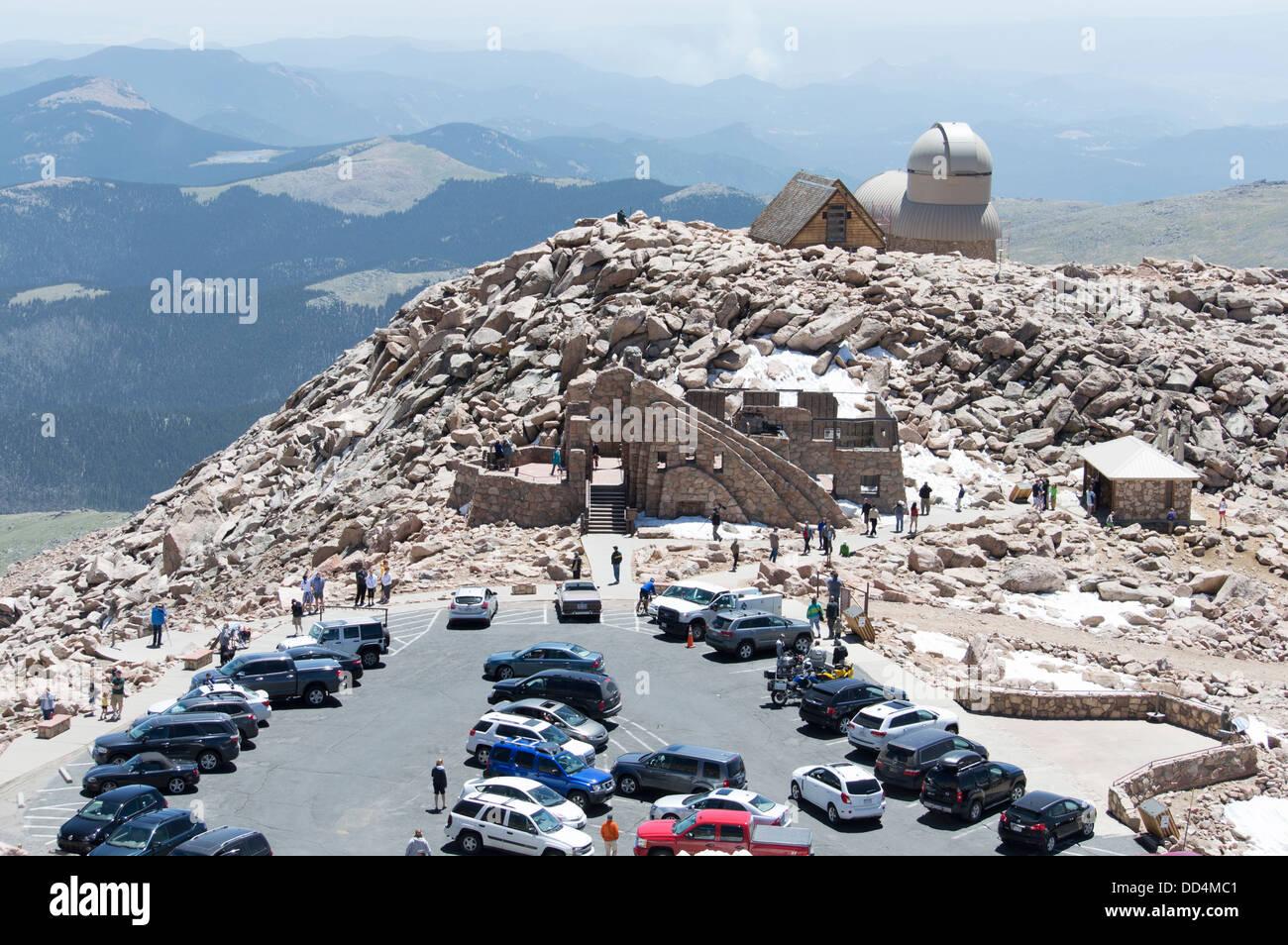 The summit of Mount Evans, near Denver, Colorado, USA - Stock Image
