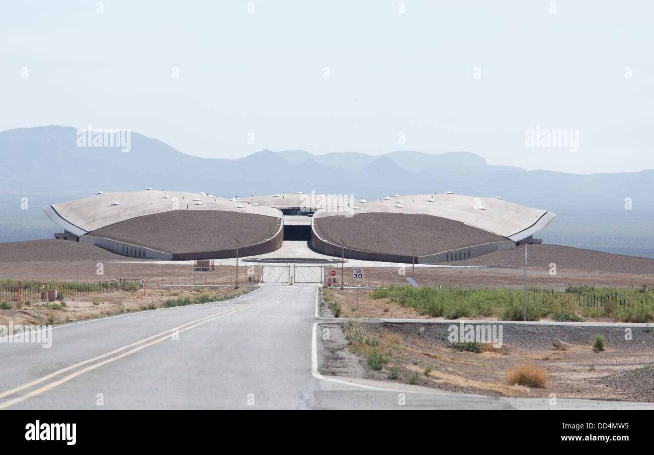 Spaceport USA near Truth or Consequences, New Mexico. - Stock Image