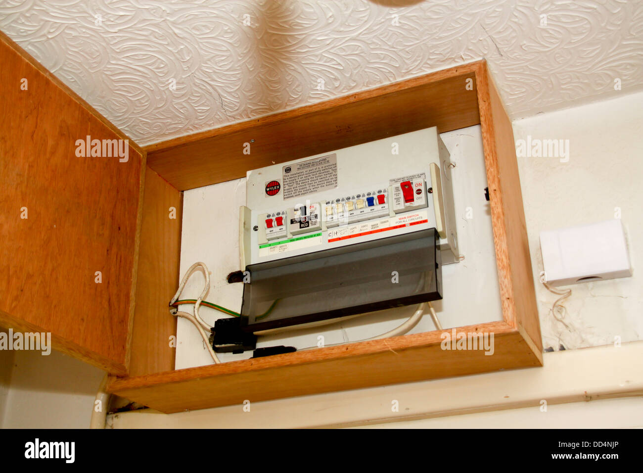 Electrical Distribution Board Stock Photos Panels Circuit Breaker Fires Domestic And Breakers Image