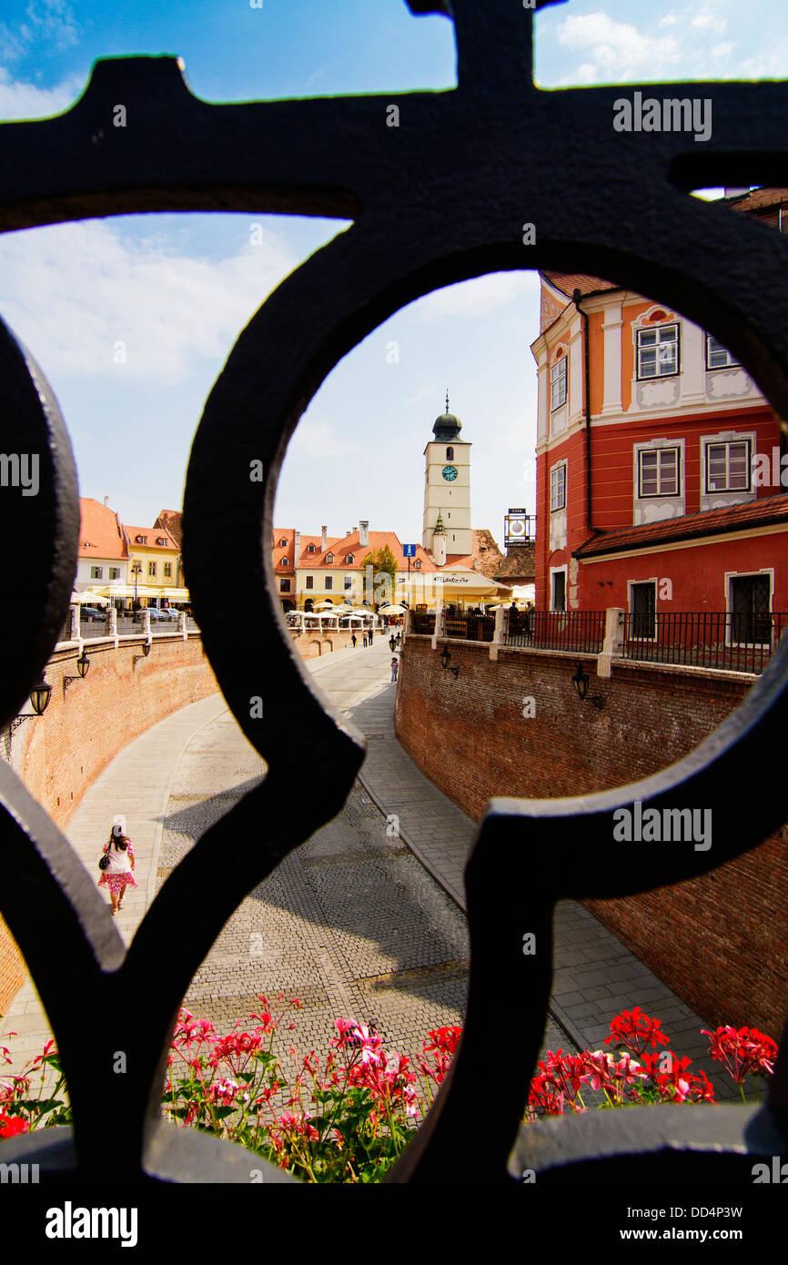 Hermannstadt (Sibiu) the European Capital of Culture in 2007 - Stock Image