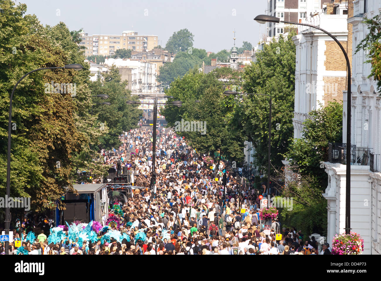 London, UK. 26th Aug, 2013. Thousands take part in the annual parade at the Notting Hill Carnival. Credit:  Piero - Stock Image