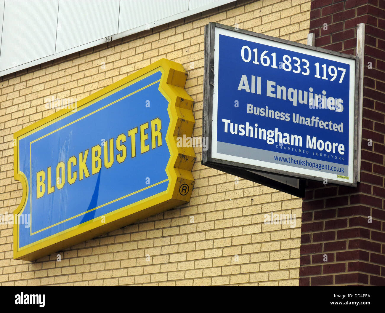 Closure of Blockbuster Video, Warrington Town Centre, Cheshire, North West England, WA1 - Stock Image