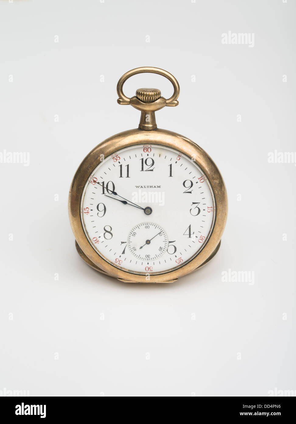 Pocket Watch by Waltham Watch Company  aka American Waltham Watch Co. created the first successful industrialized - Stock Image