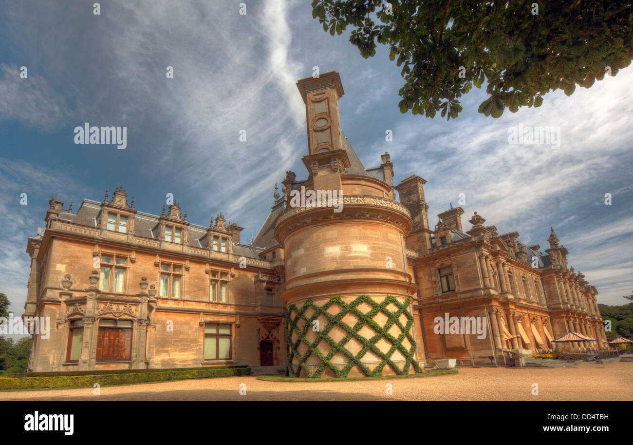 Panorama from Waddesdon Manor, Buckinghamshire, England - Stock Image