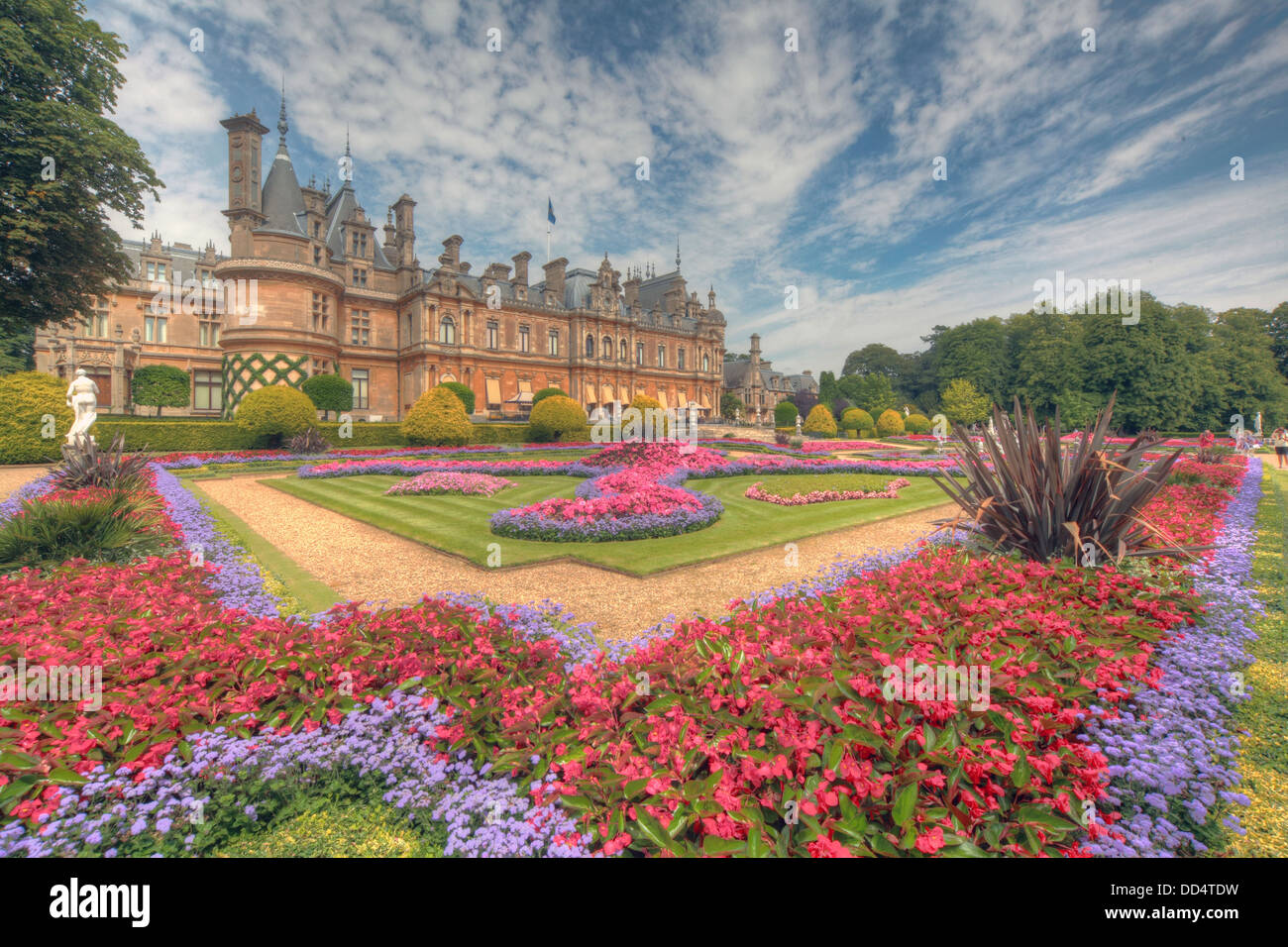 Panorama from Waddesdon Manor, Buckinghamshire, England Stock Photo