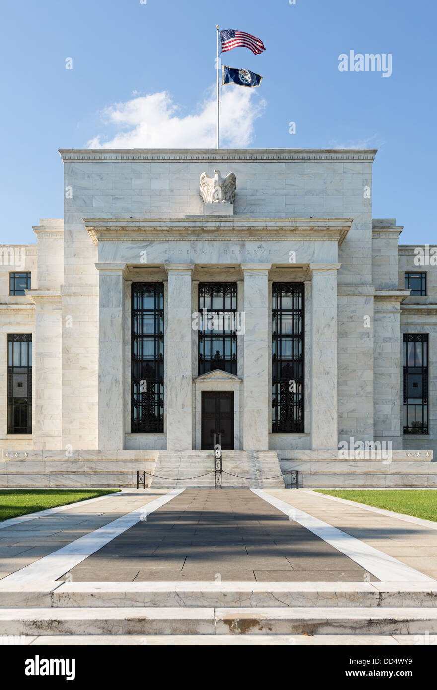 Federal Reserve building, Washington DC, USA - Stock Image
