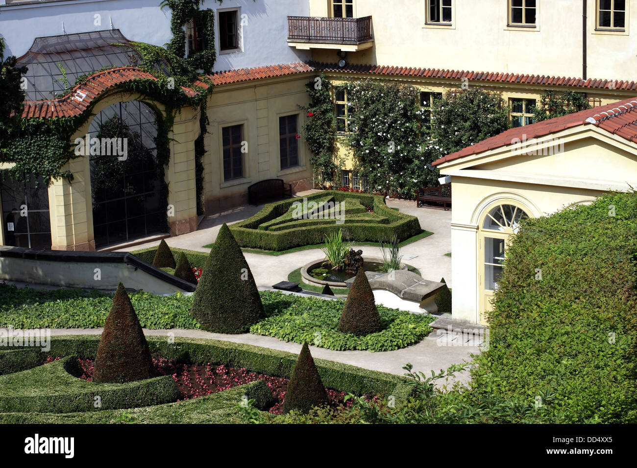 Vrtbovska garden is a baroque garden situated on the slopes of the Petrin Hill in Prague, Europe -  and one of the - Stock Image