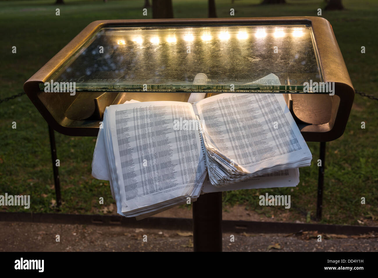 Book Containing Names Of The Fallen In The Vietnam War At The Stock Photo Alamy