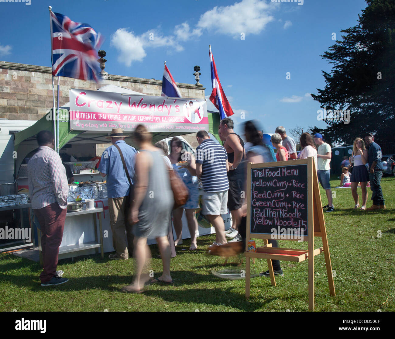 Stonyhurst College, Clitheroe, UK. 26th August, 2013. Crazy Wendys Take-away Thai food at the Great British Food - Stock Image