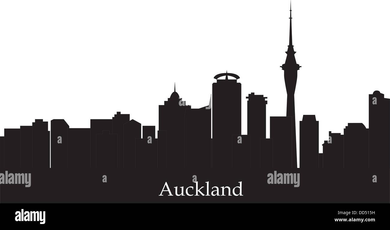 aukland skyline new sealand - Stock Image